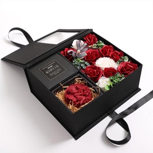 Կրետիվ նվեր տուփ Flower Rose